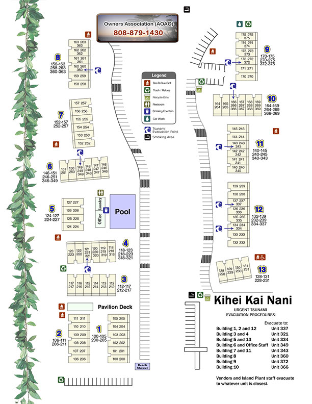 Location and Maps Kihei Kai Nani Maui Condos