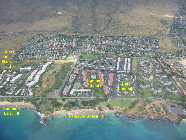 Location And Maps Kihei Kai Nani Maui Condos - Aerial view maps